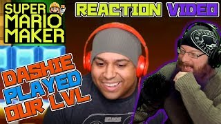 DASHIE PLAYED OUR LEVEL!  Reaction Video with Oshikorosu for Super Mario Maker! ♥
