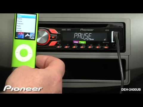 pioneer deh 2400ub ipod control mode autoprestige autoradio youtube. Black Bedroom Furniture Sets. Home Design Ideas