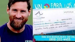 ¡Su mejor gol! La millonaria donación de Lionel Messi para los niños que más lo necesitan thumbnail