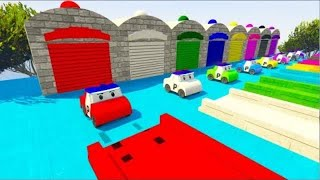 Colors for Children to Learn with Hot Wheels Robocar Poli Toy Car Parking for Kids