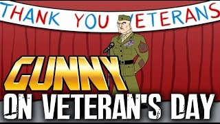 Gunny celebrates Veterans Day with the neighborhood
