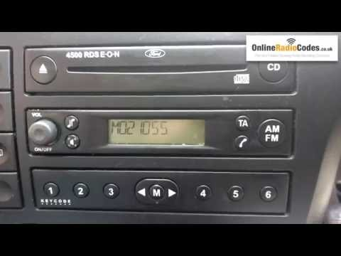 How To Find Your Ford Radio Code Serial From Display 3000/4000/4500/5000/6000/6006/7000