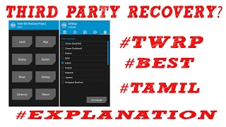 What is third party recovery ? Like twrp ? explanation in (tamil)