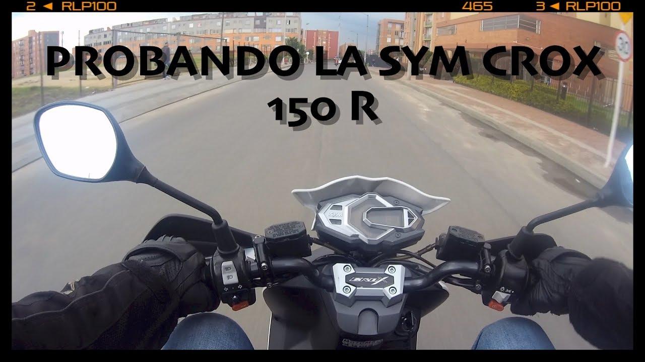 8dc040f9a2de51 TEST DRIVE PROBANDO SYM CROX 150R PAISA MOTERO - YouTube