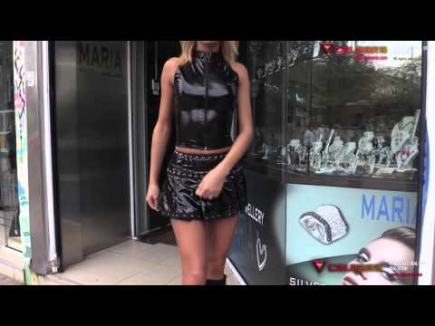 Calmara Girls Wearing Latex, PVC and High Heels in Public. Preview Teaser
