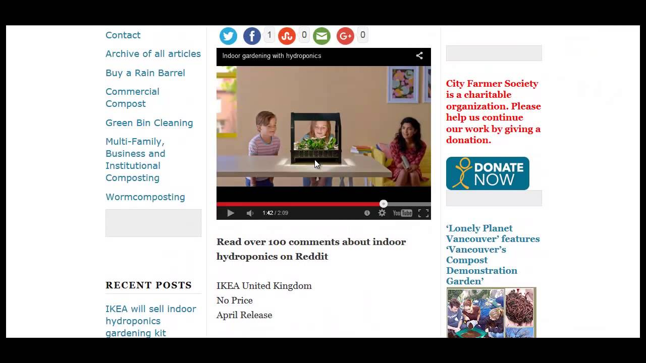 Ikea Desktop Hydroponics Youtube