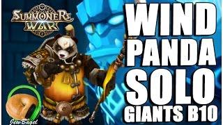 summoners war feng yan solo giants b10 wind panda warrior