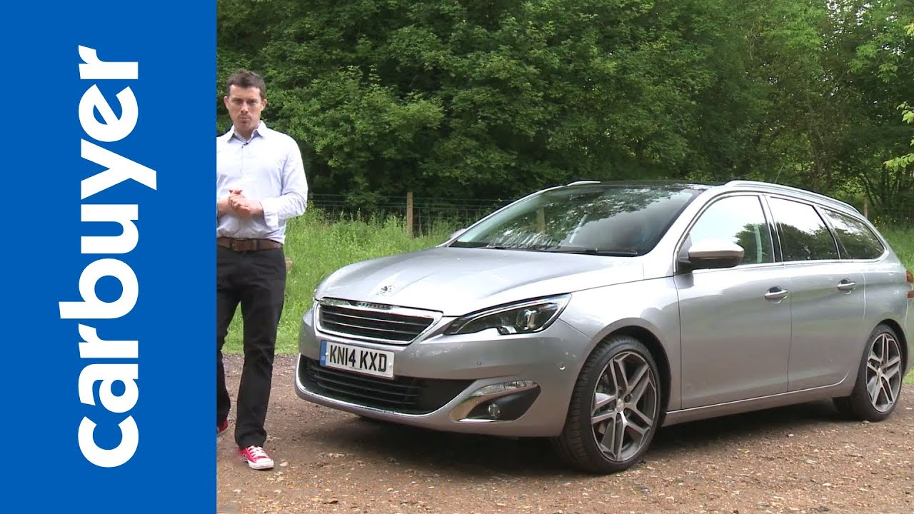 Peugeot 308 SW estate 2014 review - Carbuyer - YouTube