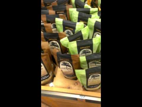 Sprouted goods in bulk section at health food Store