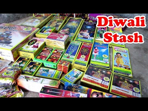 Diwali Crackers 2017 Fireworks Stash worth Rs.10000 ~ Cock Brand with Price