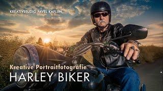 Kreative Portraitfotografie: Harley Biker in Szene setzen