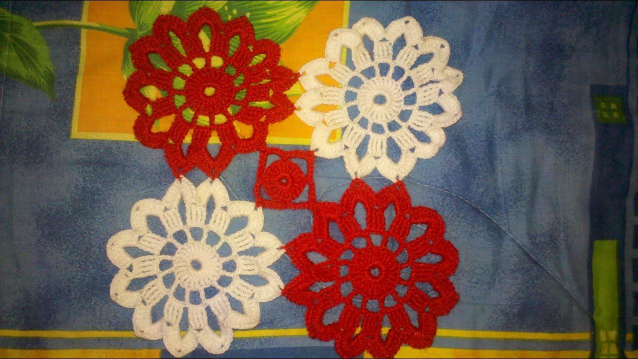 Como hacer un tapete uniendo pastillas a crochet en for Tapetes de crochet