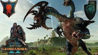 TERROR FROM THE DEEPS - Blessed Dread vs. Tzeentch SFO Grimhammer - Total War Warhammer 2