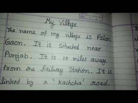 My village, a short paragraph for kids, online classes