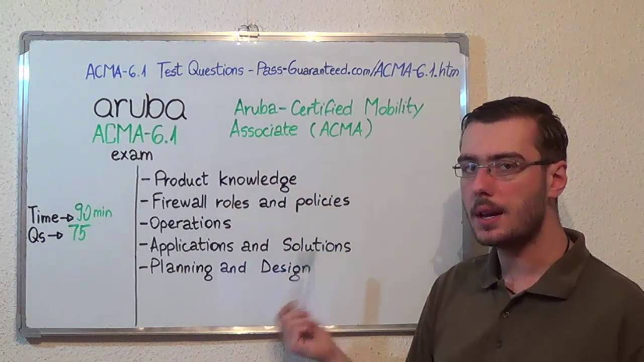 Acma V61 Aruba Exam Certified Mobility Test Associate Questions