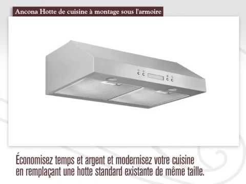 Ucp430 Hotte De Cuisine Sous L Armoire Youtube