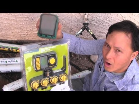 How to Install a 4 Zone Water Timer to Automatically Water your Garden  sc 1 st  YouTube & How to Install a 4 Zone Water Timer to Automatically Water your ...
