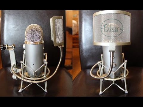 Blue Yeti Microphone Test Stock Vs With Shock Mount And Then Pop Filter