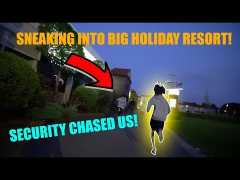 SNEAKING INTO BUTLINS HOLIDAY RESORT (SECURITY CHASED US)