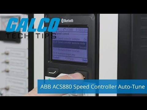 ABB's ACS880 Speed Controller Auto-Tune Mode - A Galco TV Tech Tip