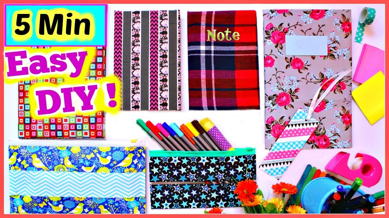 5 minutes back to school supplies easy and quick diys you need to