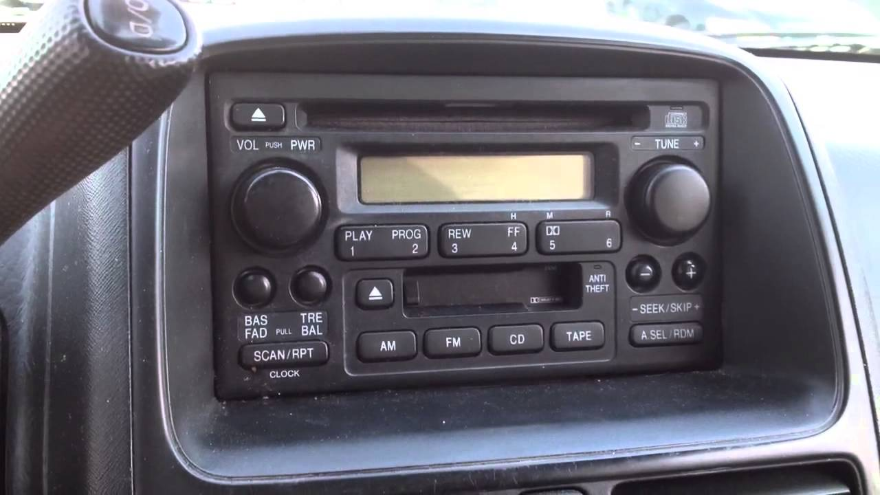 2003 Honda Civic Cd Player Wiring Diagram Radio Reset Code In 5 Minutes For A 2001 Honda Crv Cr V