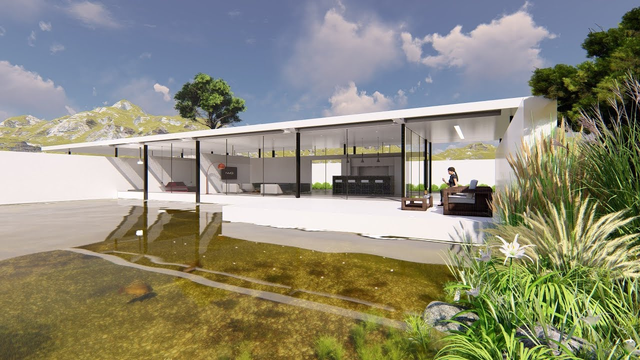 Lumion 8 pro render modern house12