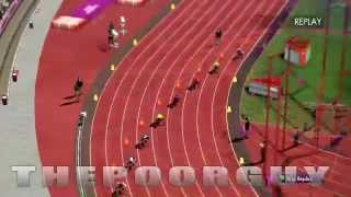 ALLYSON FELIX gold medal race simulation of the 200m using the London 2012 video game