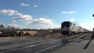 Amtrak 92, Silver Star, northbound, Led by 89, Hermitage Road, Richmond, VA, December 30 2012