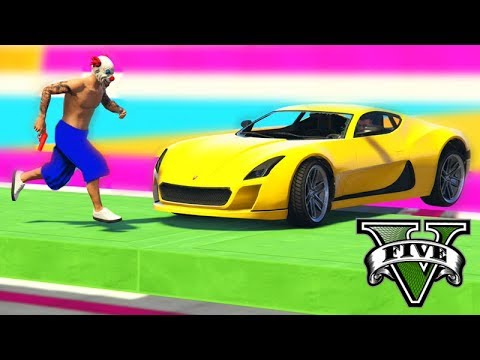 GTA V Online: PARKOUR vs CYCLONE - O NOVO SUPER CARRO!!!