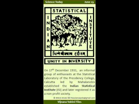 Science Today - June 29 - PC Mahalanobis, Anthropometry and Indian Statistical Institute