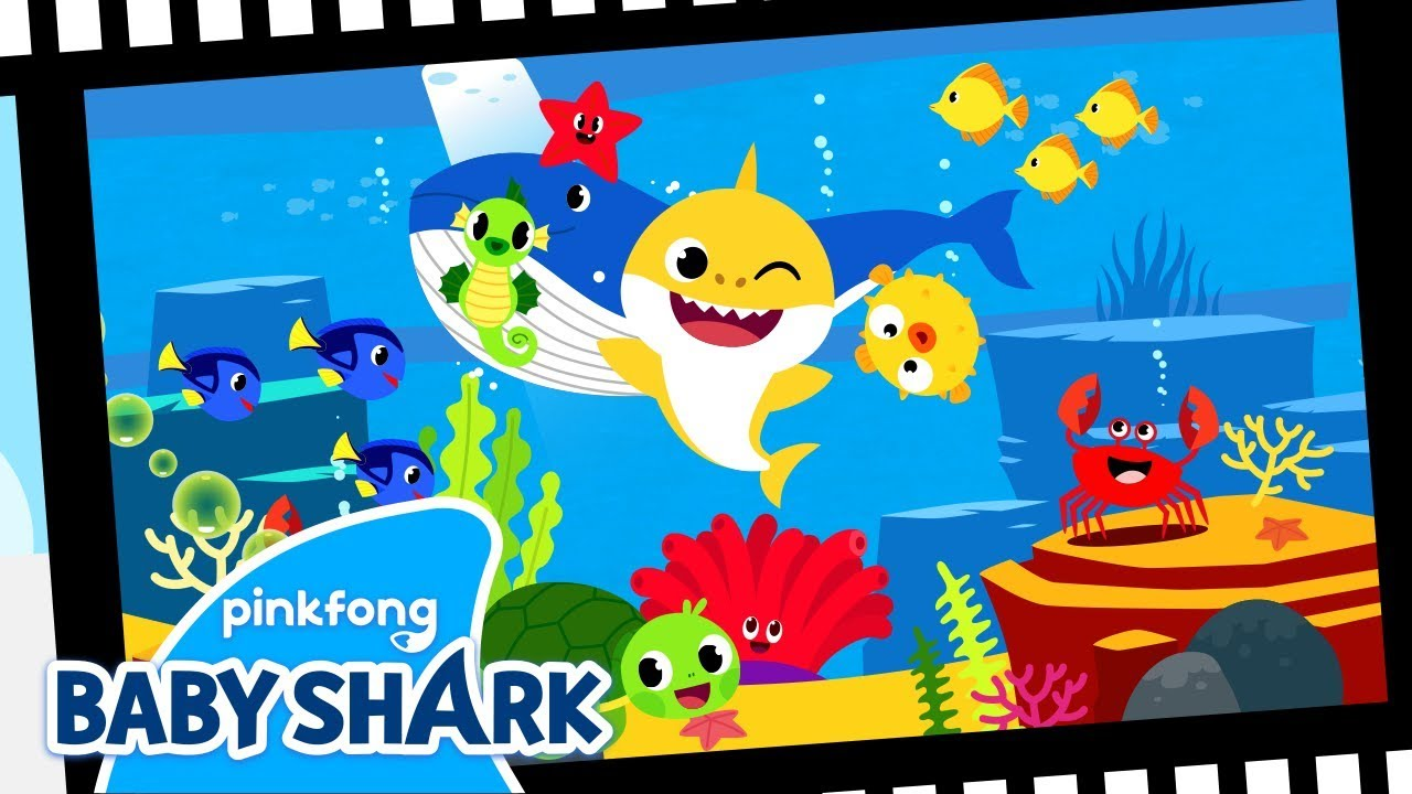 Colors in the Sea   Sing Along with Baby Shark   Baby ...