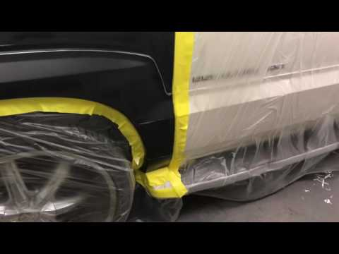 Doing Automotive Spray/Painting Pearl White 2004 Cadillac Escalade