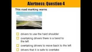 """Section 1: Alertness - Driving Theory Test Questions and Answers"""