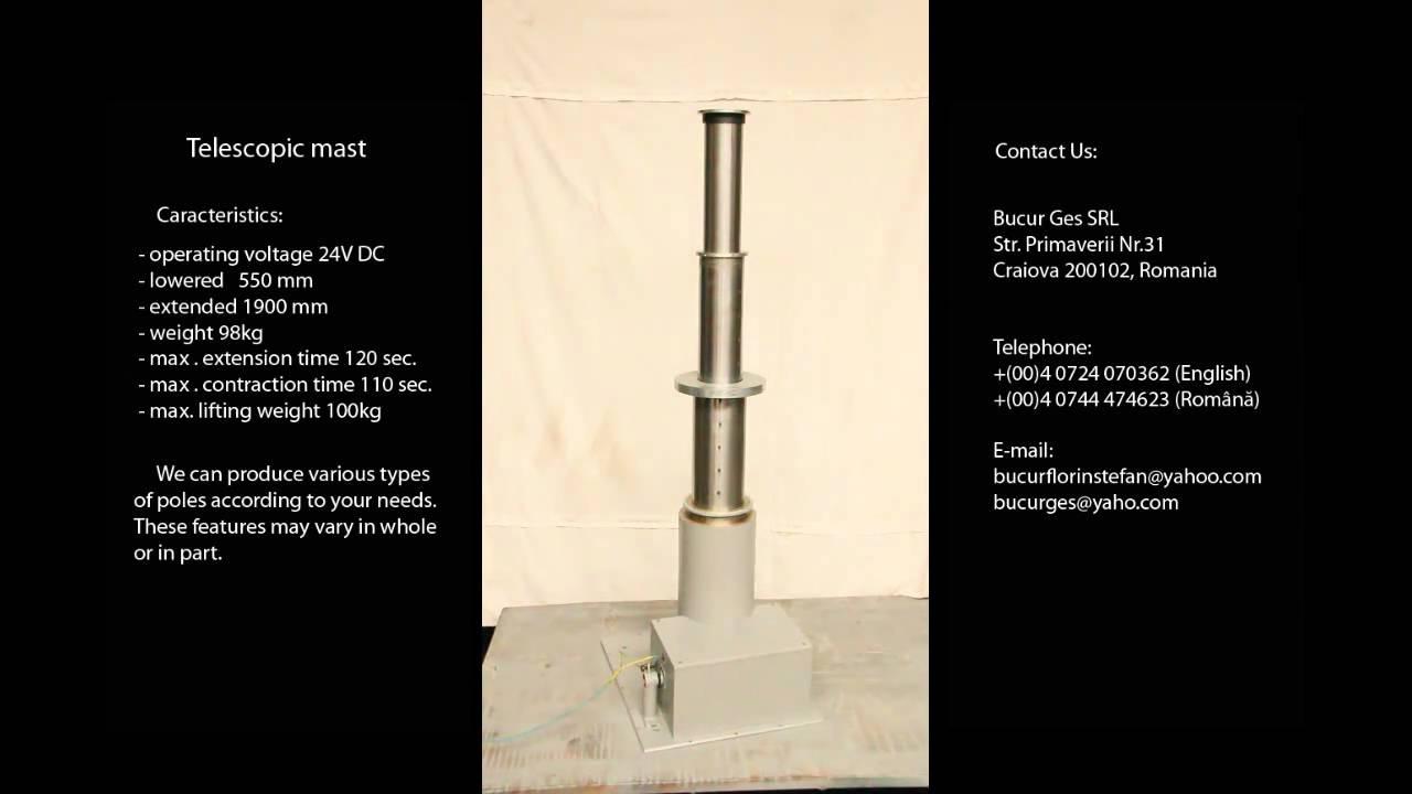 Electric Telescopic Mast Telescopic Pole Pilon