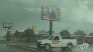 5-9-16 Hugo, Oklahoma Tornado Tears through Town