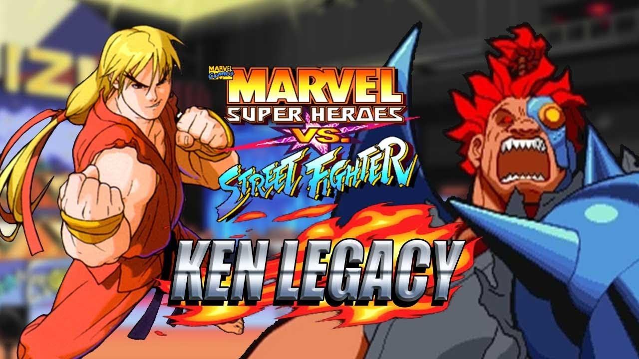 TAKING CYBER-AKUMA DOWN: Ken Legacy - Marvel Super Heroes vs Street Fighter