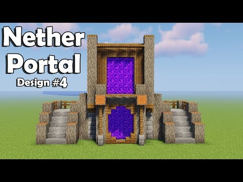 Minecraft: How To Build (the Best Nether Portal Design)