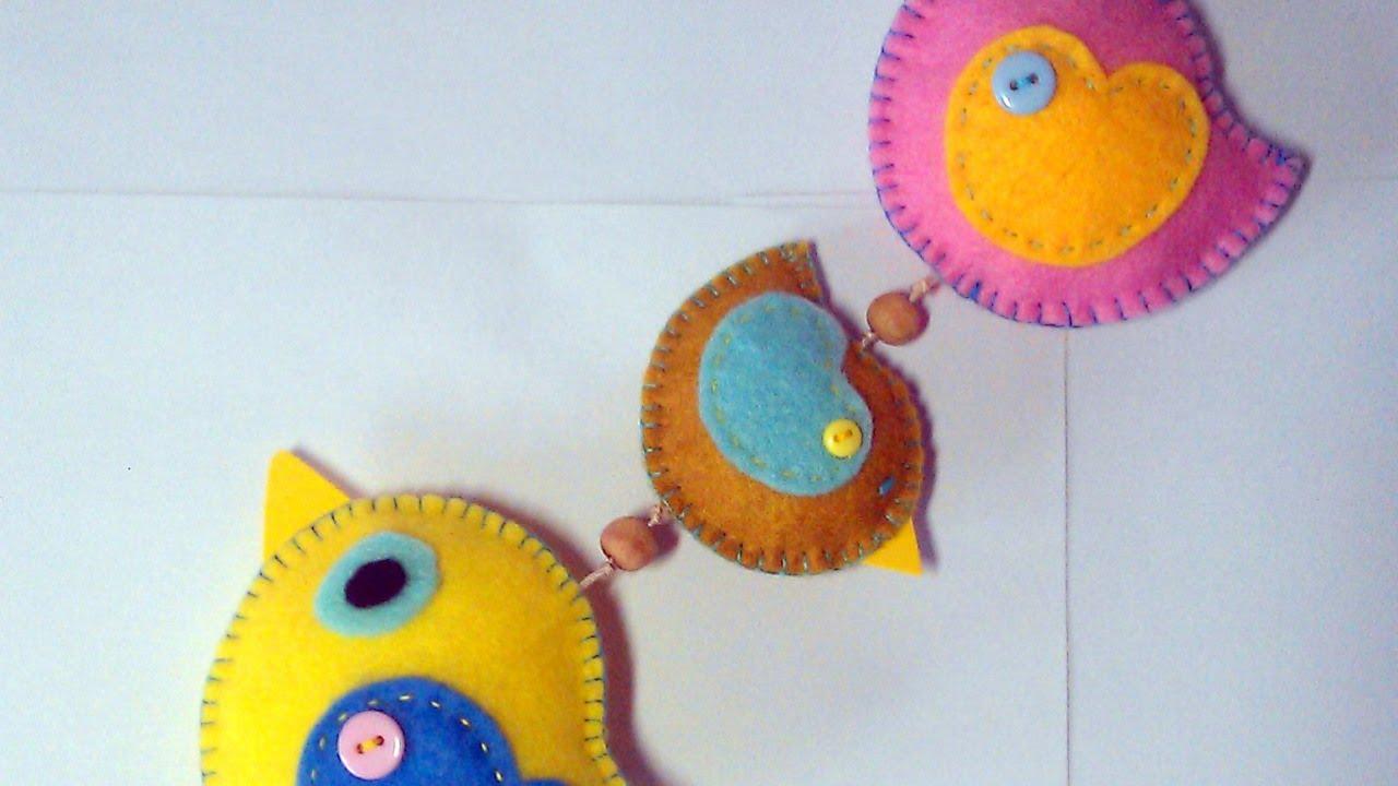 Make A Cute Hanging Felt Bird Decoration Diy Home Guidecentral You
