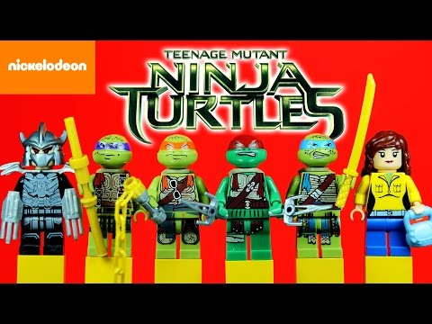 LEGO Teenage Mutant Ninja Turtles Movie KnockOff Minifigures Set 5 Nickelodeon