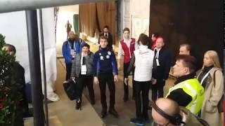 Чемпионат Европы по фигурному катанию Грац 2020 Мужчины Короткая программа Взгляд из за кулис