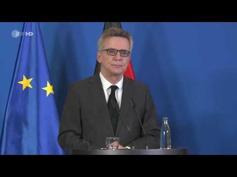 Pressekonferenz von Bundesinnenminister de Maizière zu Anschlag am Breitscheidplatz in Berlin