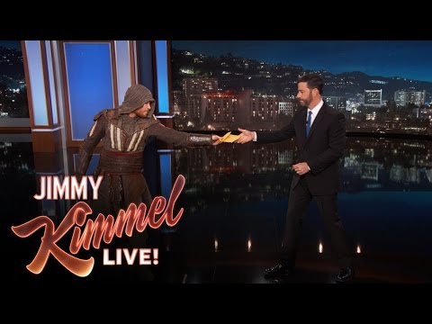 "Deliveryman Brings Jimmy Kimmel The New ""Assassin's Creed"" Trailer"