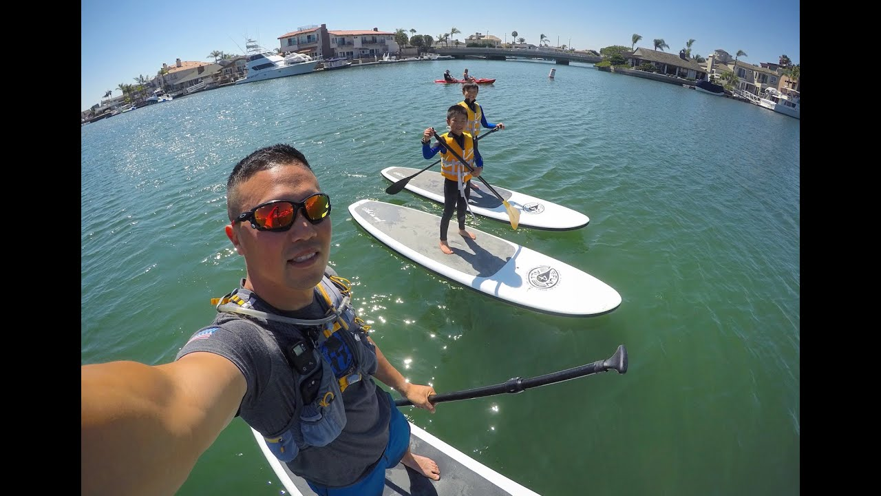 Paddle Boarding At Sunset Beach Hd Gopro