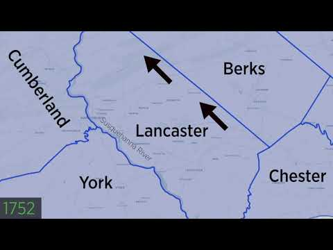 The History Of Lancaster County's Borders