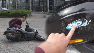 scooter kapot door omvallen 20 feitjes over mij
