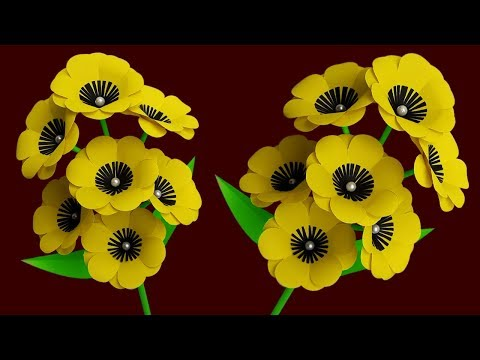 Diy Flower Stick | Paper Flower Stick | Making Beautiful Paper Flowers Step by Step