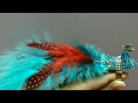 Latest Beautiful Peacock Feather Ring Designs // 2017