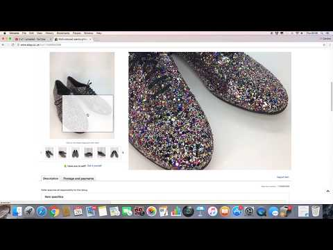 Make Money on Ebay Sales 14 - 26 Oct ft vintage Laura Ashley & glittery shoes - UK reseller