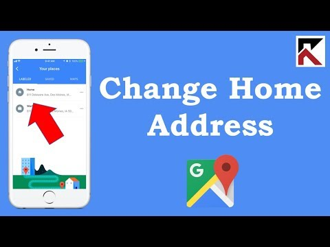How To Change Your Home Address Google Maps iPhone - YouTube Change Home Address Google Maps on